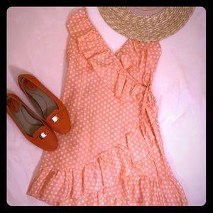 PrettyLittleThing Mini Polka Beach Wrap Dress